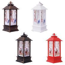 Рождественский винтажный светодиодный светильник в виде Санта-Клауса и снеговика, портативный подвесной светильник, Декор для дома и сада, подвески, вечерние принадлежности