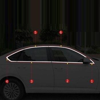 Automovil модифицированный авто корпус окно внешняя мода аксессуар наклейка полоса автомобиль Стайлинг 13 14 15 16 17 18 для Volkswagen Lavida