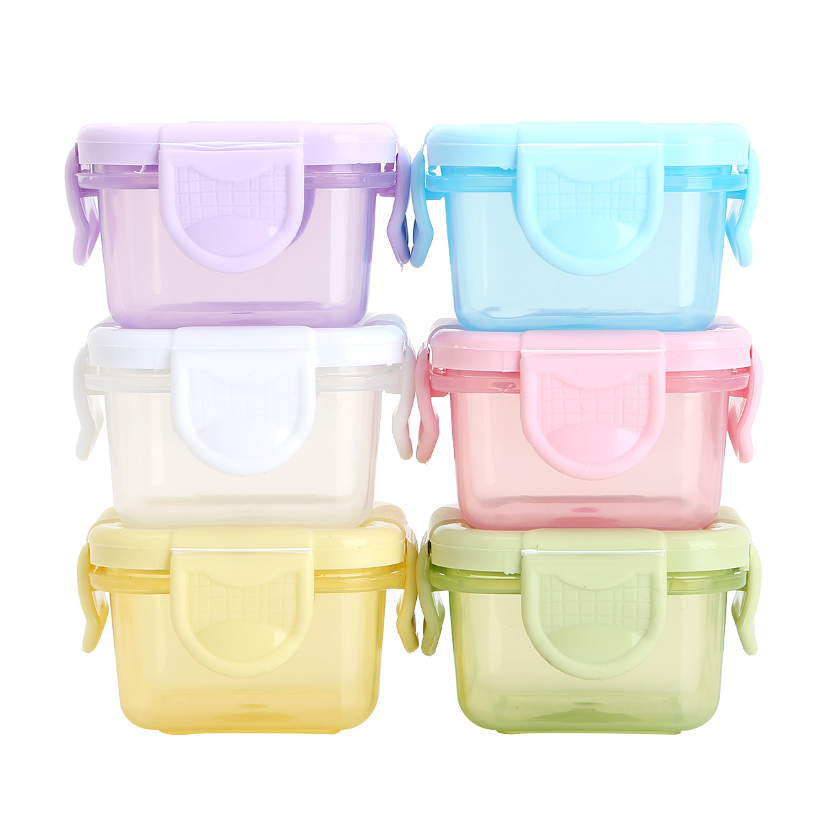 6pcs Baby Food Storage Freezer Containers BPA-Free Airtight Small Plastic Containers with Lids Baby Food Storage Containers