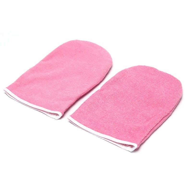 Guantes de mano de protección de mano de cera parafina para calentador de cera Mini SPA algodón 1 par de protección de cera profesional