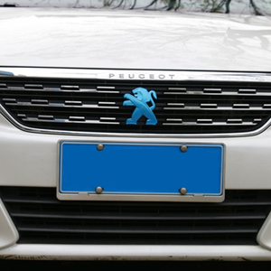 Image 3 - 2Pcs Auto Styling für Peugeot Logo 408 2019 308 4008 508L 2019 ABS Auto Kühlergrill Abzeichen Hinten Emblem aufkleber Dekoration