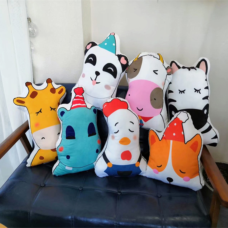 45 cm lovely panda cartoon soft pillow stuffed animals such as car cushion sofa children sleep pillow baby room decoration
