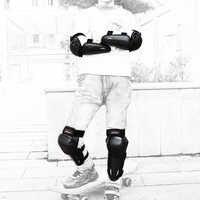WOSAWE детский набор наколенников для езды на горном мотоцикле, защита для катания на велосипеде, защита для катания на лыжах, сноуборде