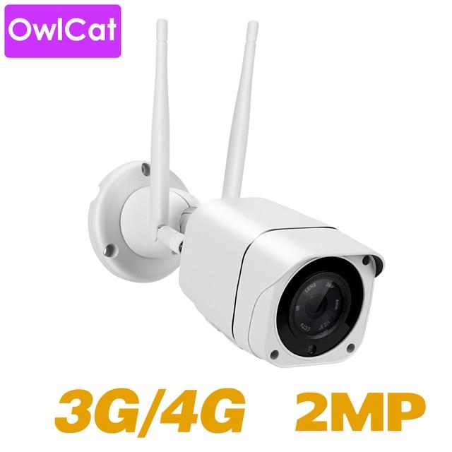 OwlCat HD 1080P 2mp Bullet IP Camera Wireless GSM 3G 4G SIM Card Camera Audio Talk MiFi Outdoor Waterproof iPhone Android View