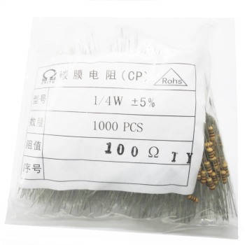 цена на 1000pcs/lot Brand new carbon film resistor 1/4W 5% All series DIP resistor free shipping