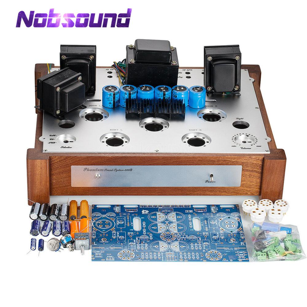 Nobsound 300B Vacuum Tube Amplifier PCB Board Class A Stereo Audio Power Amp DIY KIT 7W*2 image