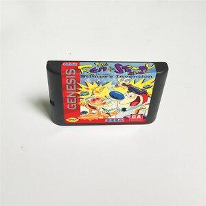 Image 2 - 仁 & stimpyショープレゼントstimpyの発明 usaカバーとリテールボックス 16 ビットmdゲームカードセガメガドライブジェネシス