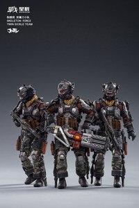 Image 4 - JOYTOY JT0173 Skeleton Forces Double Sickle SQUAD 1/18 Action Figure Set 3