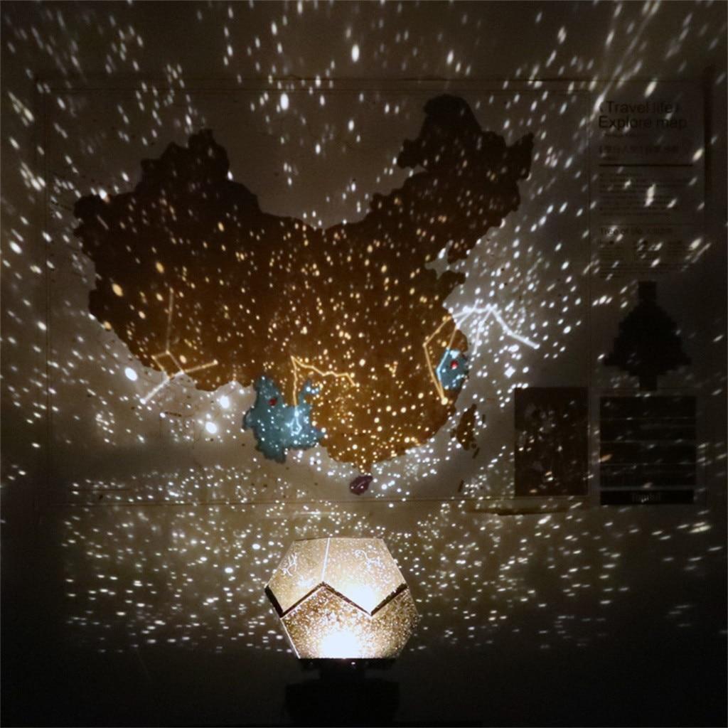 Светодиодный светильник для проектора, 3 цвета, волшебная игра, звездное небо, Проекционные Огни для детей, спальни, звезды, романтические Звездные огни, usb Тип лампы