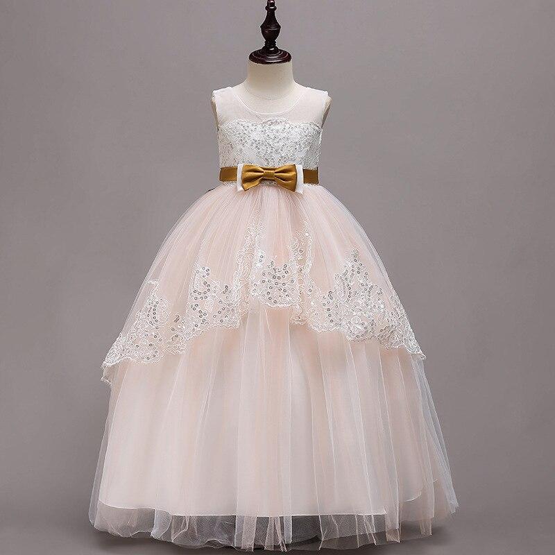 Girls Tutu 2018 New Style Princess Dress Flower Boys/Flower Girls Late Formal Dress Piano Performance Wedding Dress Long Mop