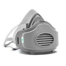 3200 Половина лица резиновый защитный респиратор Маска против пыли PM2.5 промышленный