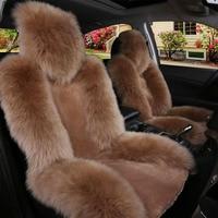 100%Natural fur Australian sheepskin car seat covers universal size Winter Warm Fur Seat Cover Auto Interior Accessories