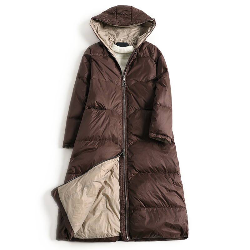 2020 New   Down   Jacket 90% Brand Long Ladies   Coat   Slim Slim   Down   Jacket Women Warm Jacket Hooded Ms Jacket Hot Sale Girl   Coat
