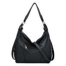 Casual Women Shoulder Bags for Ladies 2019 Black Soft PU Leather Crossbody Female Big Messenger Hobos Bolsa Feminina