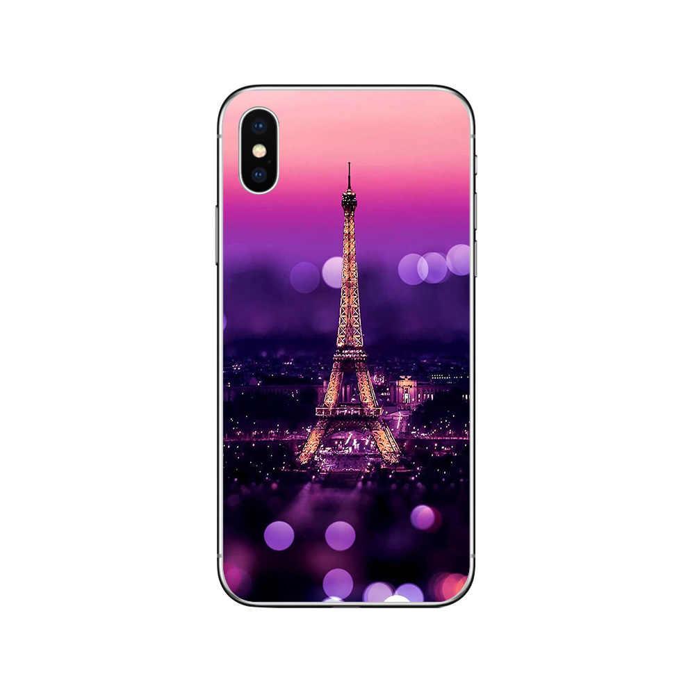 Ciciber باريس برج ايفل الهاتف حالات ل فون 11 برو ماكس غطاء ل فون XR 8 7 6 6S زائد X XS ماكس 5S SE لينة TPU كوكه
