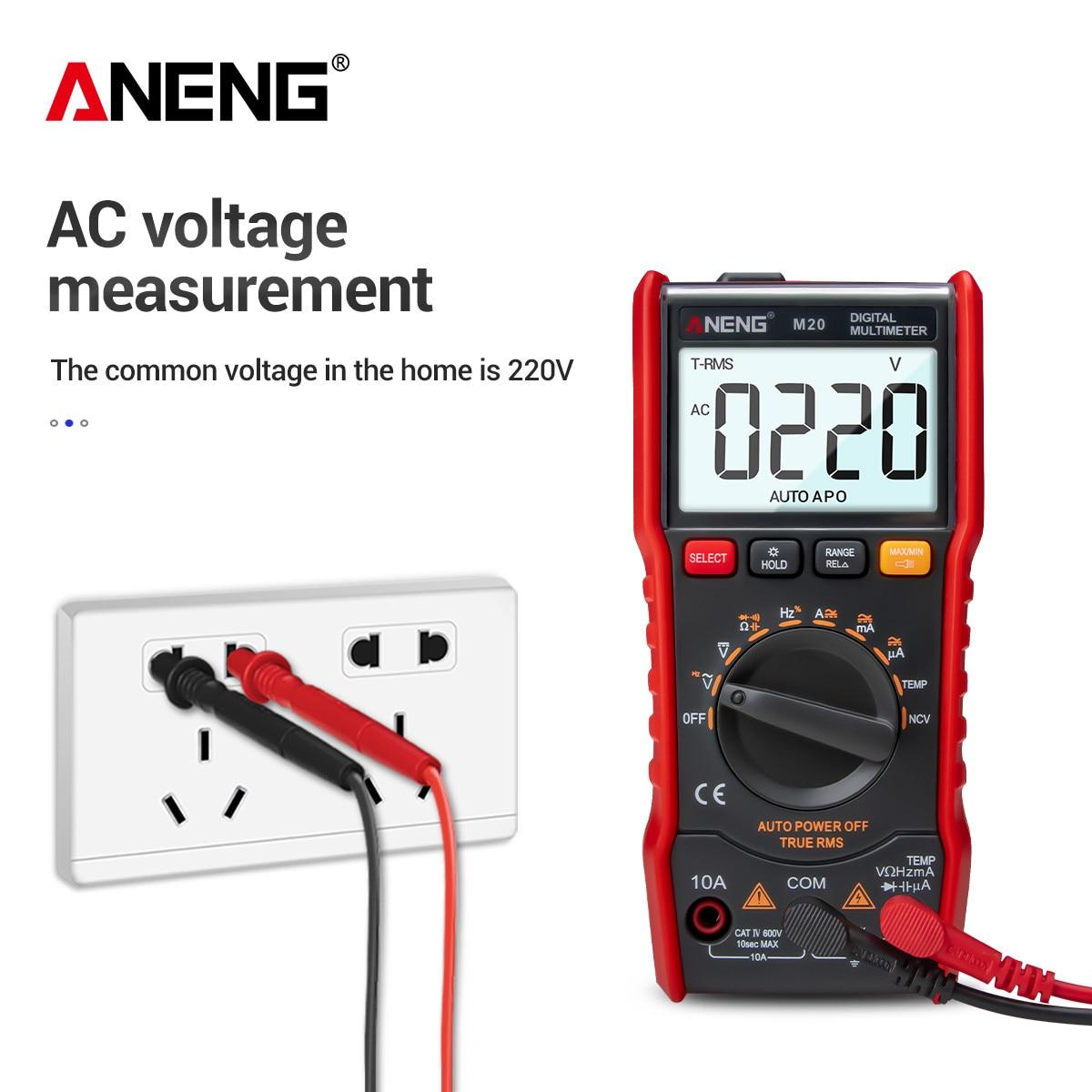 ANENG M20 Digital Pocket Multimeter Profissional 6000 Counts Transistor Tester True Rms Capacitance Esr Mutimetro Lcr Meter