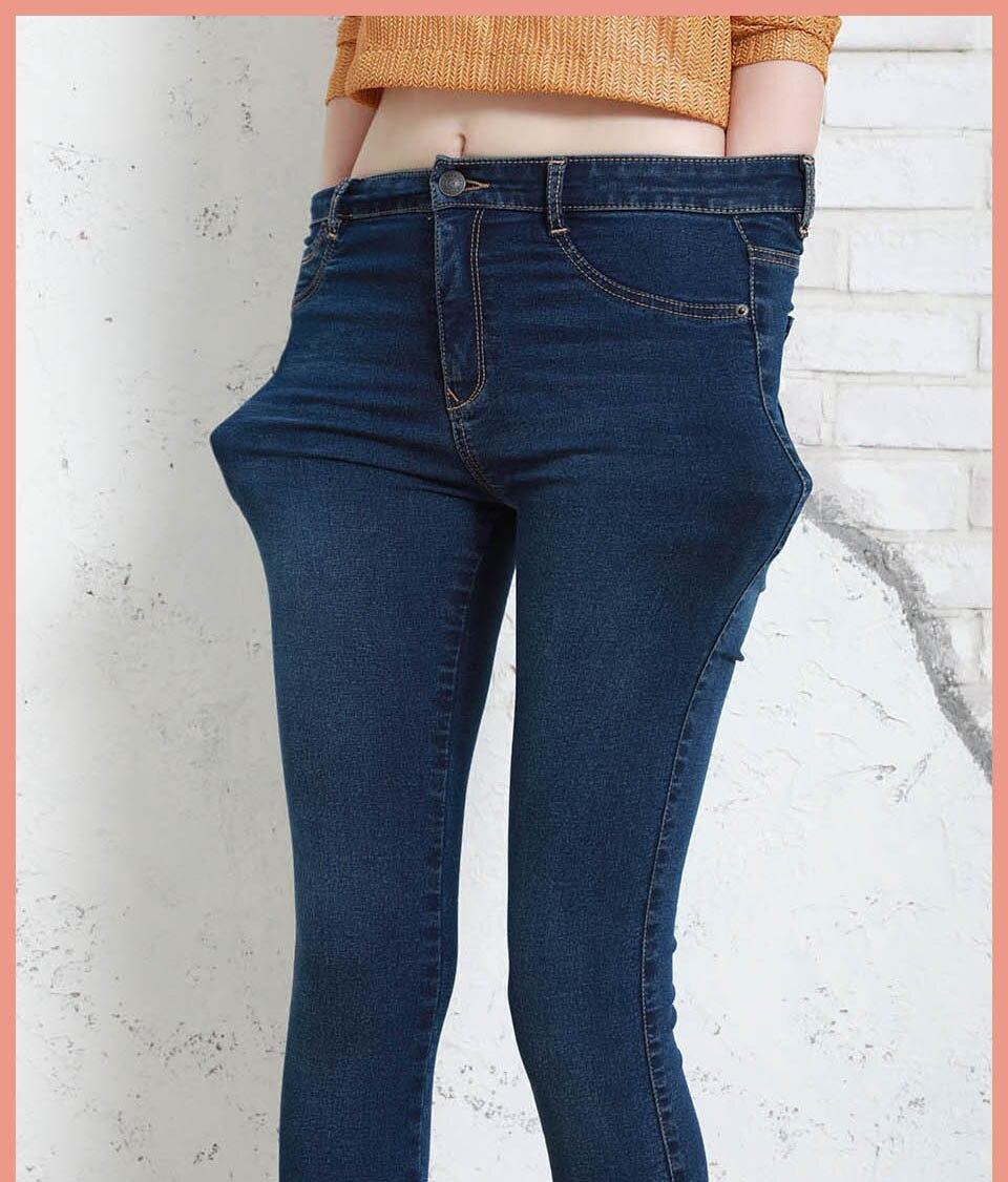 Autumn Winter Women Denim Skinny Pants Super Stretch Fake Front Pocket Waist Blue Grey Black White Slim Elastic Lady Jeans 12