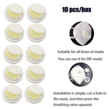 10PC Bicycle Riding Mask Filter Valve Mask Accessories Dustproof Mouth Mask PM2.5 Carbon Filter Anti Dust Pollution Valve