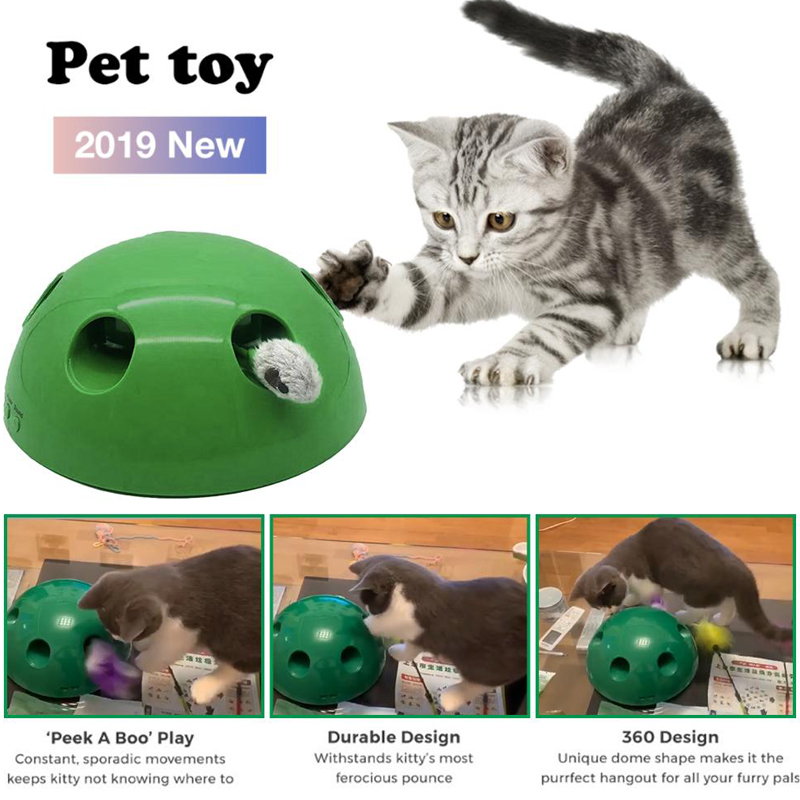 HIPET 2019 New Cat Play Toy Pet Cats Scratching Device Electric Interactive Funny Teaser Hunt Hot Sale Education