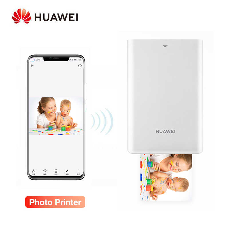 Huawei Asli AR Printer Portabel Foto Saku Mini Printer Diy Photo Printer untuk Smartphone Bluetooth 4.1 300 Dpi Printer