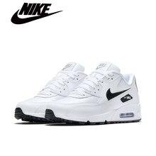 Nike-masculino feminino camuflagem sapatos esportivos amortecido chunky sole rendas até sapatos esportivos ao ar livre max 90