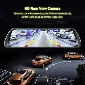 Image 2 - Android 8.1 araba dvrı GPS Navigator kamera 10 inç FHD 1080P akışı medya dikiz aynası 4G GPS ayna araç kamerası kaydedicisi
