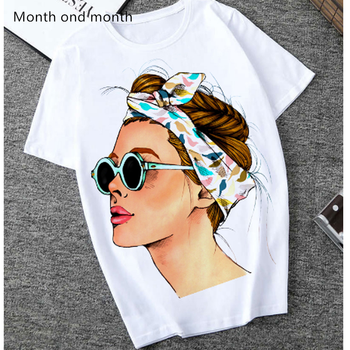 Plus Size Women Summer Vogue Print Lady Casual T-shirt Tops Harajuku Streetwear Short Sleeve O-Neck Tops Tees Camisetas Mujer love t shirt plus size 90s graphic tees women japanese korean clothes casual print o neck vintage gothic streetwear 2019 print