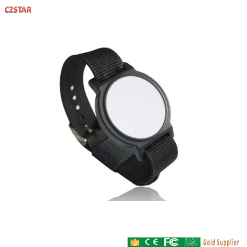 Waterproof RFID Wristband Long Range Passive Epc Bracelet Uhf Tags With Adjustable Fabric Strap For Sports Race Access Control