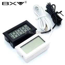 1 sztuk LCD cyfrowy termometr wodoodporny zamrażarka termometr do akwarium 2 sekundy czujnik cyfrowy stacja pogodowa