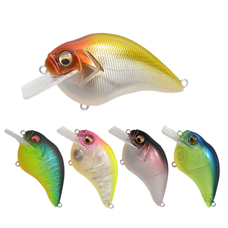 WokotipตกปลาLure 16G 65 มม.Mini Crankbait Wobblerตื้นลึกMedium Square Bill SHAD Hard Lure BASS PIKE perchปลาแซลมอนปลาเทราท์