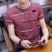 Модная новинка в Корейском стиле; футболка с коротким рукавом Для мужчин с круглым вырезом полиэстер Для мужчин s футболка летом прохладно ...