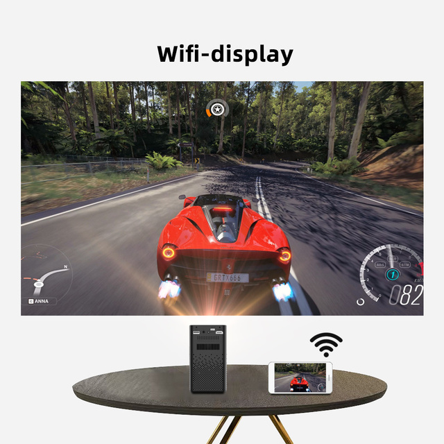 BYINTEK P20 Mini Portable Pico Smart Android 1080P LED WiFi DLP Projector 4K Beamer for Smartphone 3D Outdoor Yard Party Sport 4