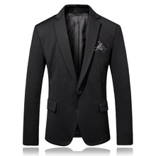 2019 fashion new men casual boutique suit /male a tightly knotted blazer jacket dress(China)