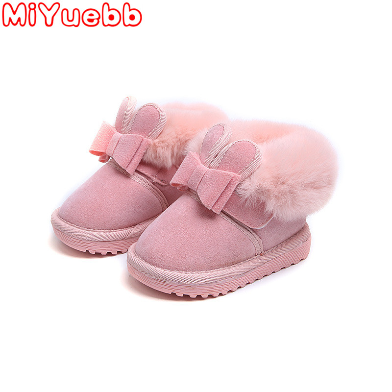 Winter 2019 New Children Girls Boots Cotton Baby Warm Shoes Student Girl Snow Kids Boots Cotton Princess Boots Kids Sneakers SDD