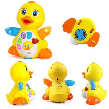 цена Music Department Sway big yellow duck baby electric toys small duck will dance sing 1-3 years old онлайн в 2017 году