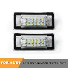 цена на 2pcs canbus no error LED license number plate lights for Audi TT MK1 8N TT Roadster 8N9 TT Coupe 8N3 car styling