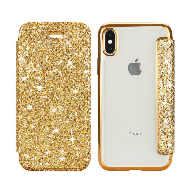 Slim Leather Case for iPhone X 8 7 6 6S Plus 5 5S SE Case for XS Max XR Clear Back Soft TPU Flip Wallet Phone Case Capa Coque 2