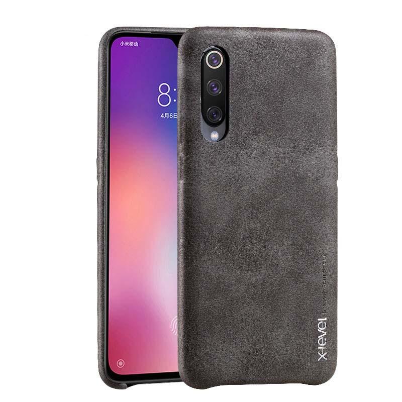 Retro Leather For Xiaomi Mi 9 Mi9 Se Чехол Case Ultra Thin Slim Back Cover For Xiaomi Note 7 Pro Redmi 7 Phone Shell