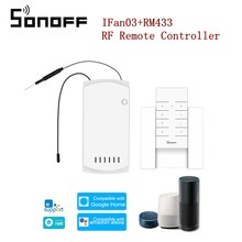 SONOFF IFan03 WiFi Ceiling Fan Smart Home Light Controller with RM433 RF Remote Controller APP Remote Control ON /OFF Control(China)