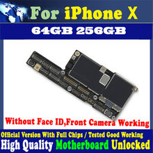 64GB 256GB Tested good working mainboard for iPhone X Motherboard Original unlocked for iphone x Logic board with Free iCloud