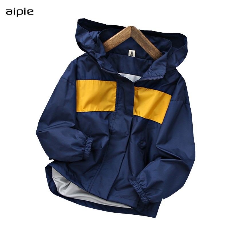 Windproof Boys Hooded Zip Up Hoodie Jackets Long Sleeve Sweatshirt Coat Jacket 4-14 Years