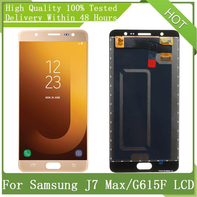 5.7 super super amoled para samsung galaxy j7 max g615 g615f g615fu display lcd touch screen digitador assembléia peças + pacote de serviço