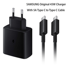 Original 45W Quick Adapter Super Fast Charger 5A Type C To Type C Cable For Samsung GALAXY Note 20 10+ S20Plus S20 Ultra A71 A91