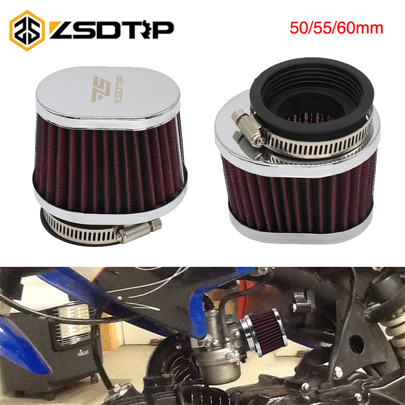 ZSDTRP 50mm 55mm 60mm Motorcycle Air Filter Motocross Scooter Air Pods Cleaner for PWK 21/24/26/28/30/32/33/34/35 image