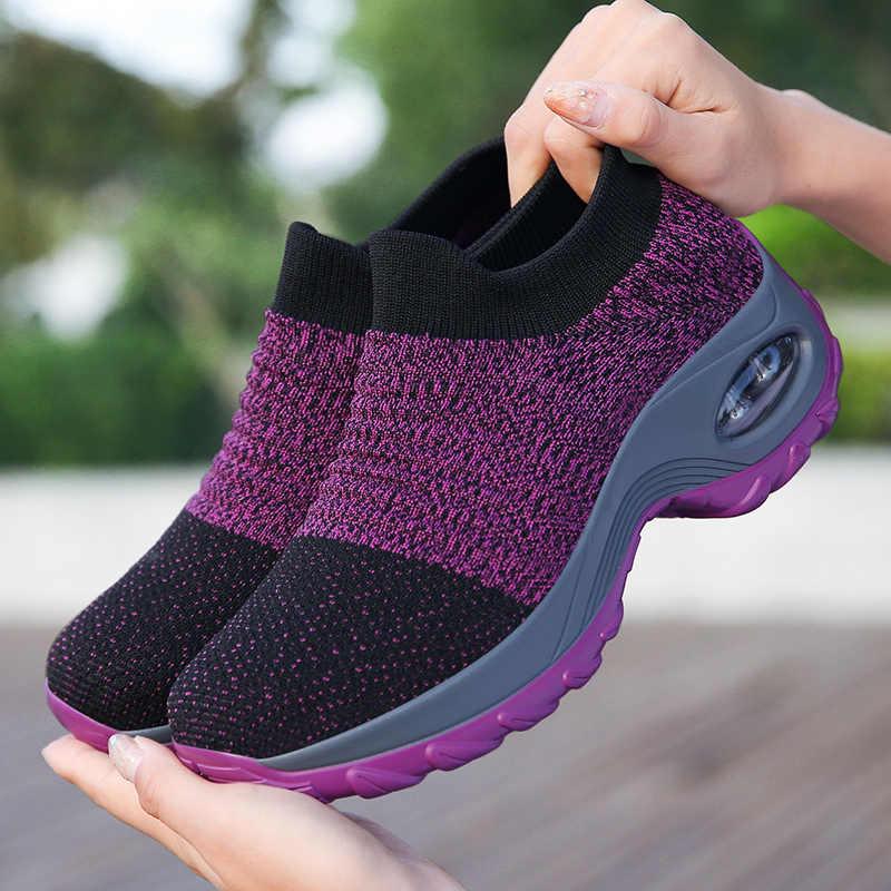 Mùa Xuân Năm 2020 Giày Nữ Giày Nữ Bay Dệt Không Đệm Nhẹ Thoáng Khí, Chống Trơn Trượt Chịu Mài Mòn giày Nữ