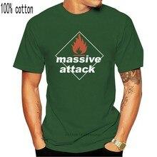 Новая массивная атака группы хип-хоп Мужская черная футболка S-3XL