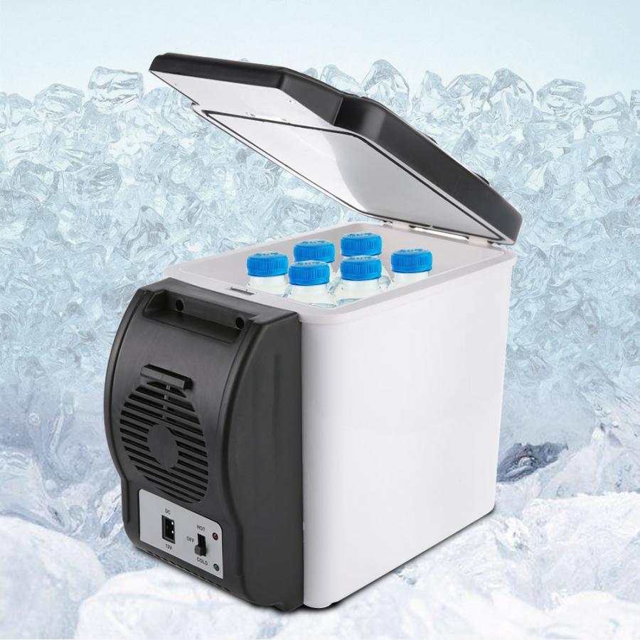 12V 6L Capacity Portable Car Refrigerator Cooler Warmer Mini Travel Fridge Freezer for Home Dorm Cooling Box Frigobar Geladeira
