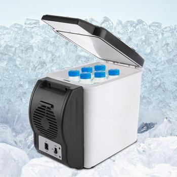 led portable cooler warmer usb fridge refrigerator mini beverage drink cans cooler power for office laptop pc usb gadgets 12V 6L Capacity Portable Car Refrigerator Cooler Warmer Mini Travel Fridge Freezer for Home Dorm Cooling Box Frigobar Geladeira