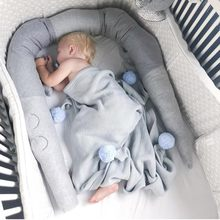 Baby Pillow Fence Baby Bed Soft Guardrail Long Pillow Children's Protection Soothing Playpen Children's Room Decorative De14(China)
