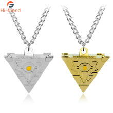 Two Colors Yu-Gi-Oh Anime Necklace 3D  MillenniumPuzzle Pendant Accessory for Women and Men